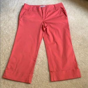 Old Navy Coral Low Waist Summer Capri Pants SZ 8